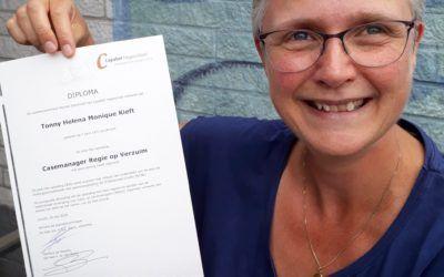 Monique Damhuis is geslaagd voor haar opleiding Casemanager Crov®